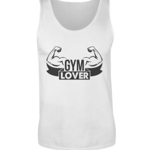 Canotta Gym lover bianca - Piano serbatoio uomo-3