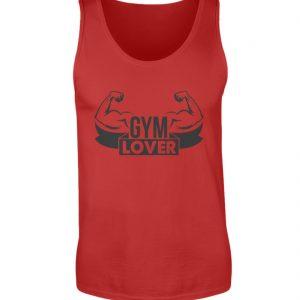 Canotta Gym lover rossa - Piano serbatoio uomo-4