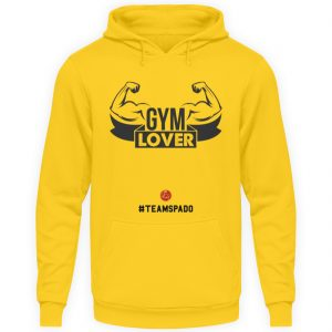 Felpa gialla gym lover - Felpa con cappuccio Unisex-1774